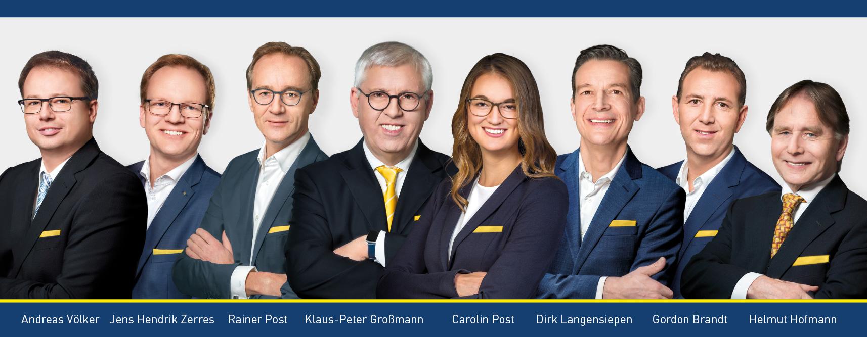 Team der Auktionshaus Grundstücksbörse Rhein-Ruhr AG