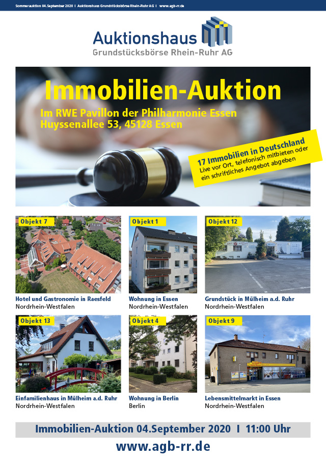 Immobilien-Katalog Sommerauktion 2020