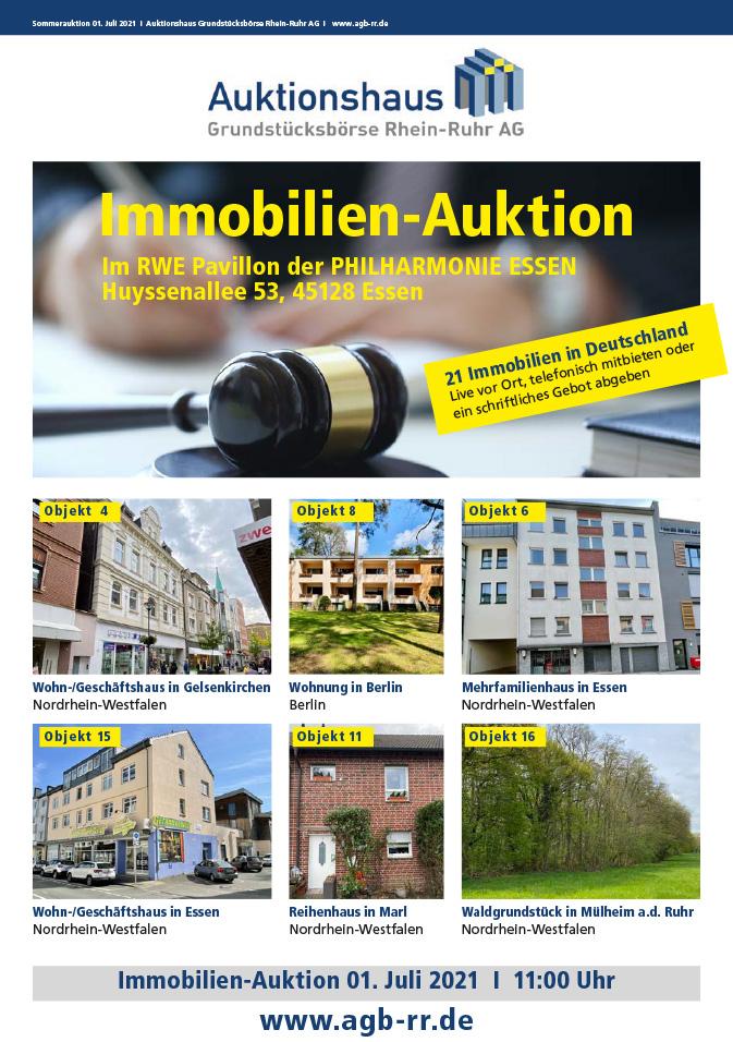 Katalog bestellen für die Immobilien-Sommerauktion 2021